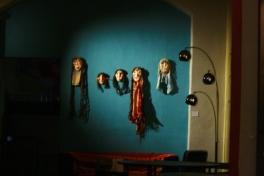 esposizione delle maschere di Aram Ghasemy, Arci Biko, 2008